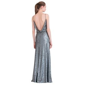 Jenny Yoo Dresses - Jenny Yoo Jules Sequin Gown Charcoal / Silver